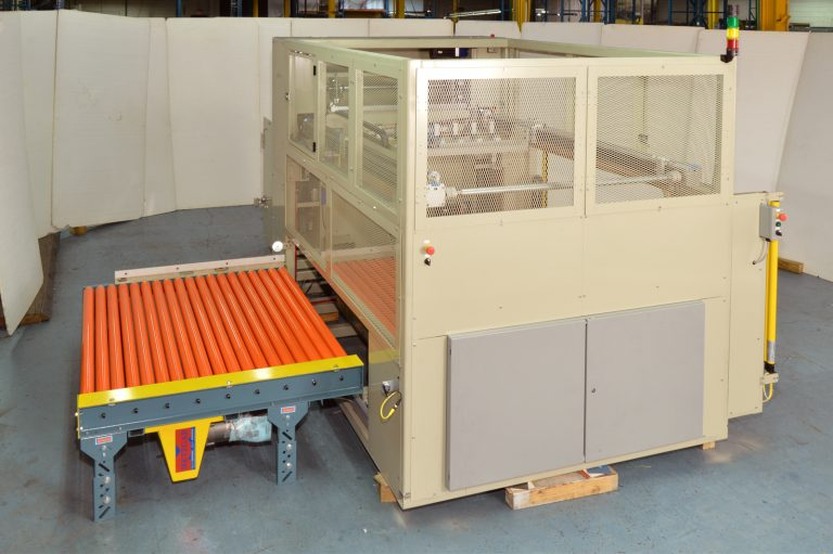 Optional Indexing Conveyor for Completed Stacks